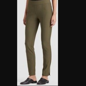 Eileen Fisher Olive Stretch Crepe Pants